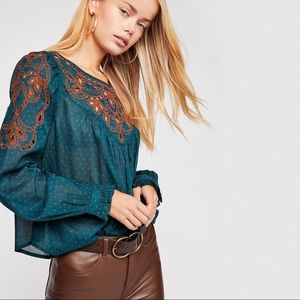 FREE PEOPLE Everything I Know Cutwork Top NWT
